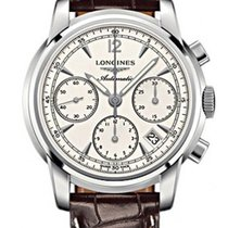 Longines Saint-Imier Chronograph 39mm White Dial Mens Watch