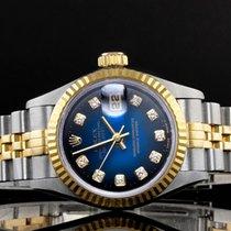 Rolex Ladies Rolex Datejust - 69173 - Blue Sunburst Rolex...