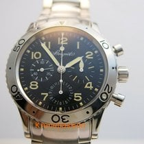 Breguet Type XX - XXI - XXII pre-owned 39mm Black Chronograph Flyback Steel