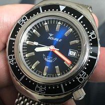 Squale 2002-a Atmos 101 1000m Diver Blue Dial Swiss ETA Automatic