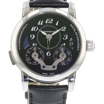 Montblanc Nicolas Rieussec 106488 Watch with Leather Bracelet...