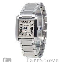 Cartier Tank Française Steel 28mm Silver Roman numerals United States of America, New York, Hartsdale