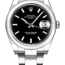 Rolex Oyster Perpetual Date Steel 34mm Black United States of America, New York, NY