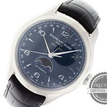 Baume & Mercier Clifton pre-owned 43mm Blue Moon phase Date Weekday Month Leather