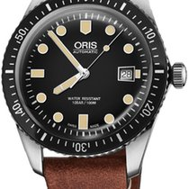 Oris Steel Automatic Black 42mm new Divers Sixty Five