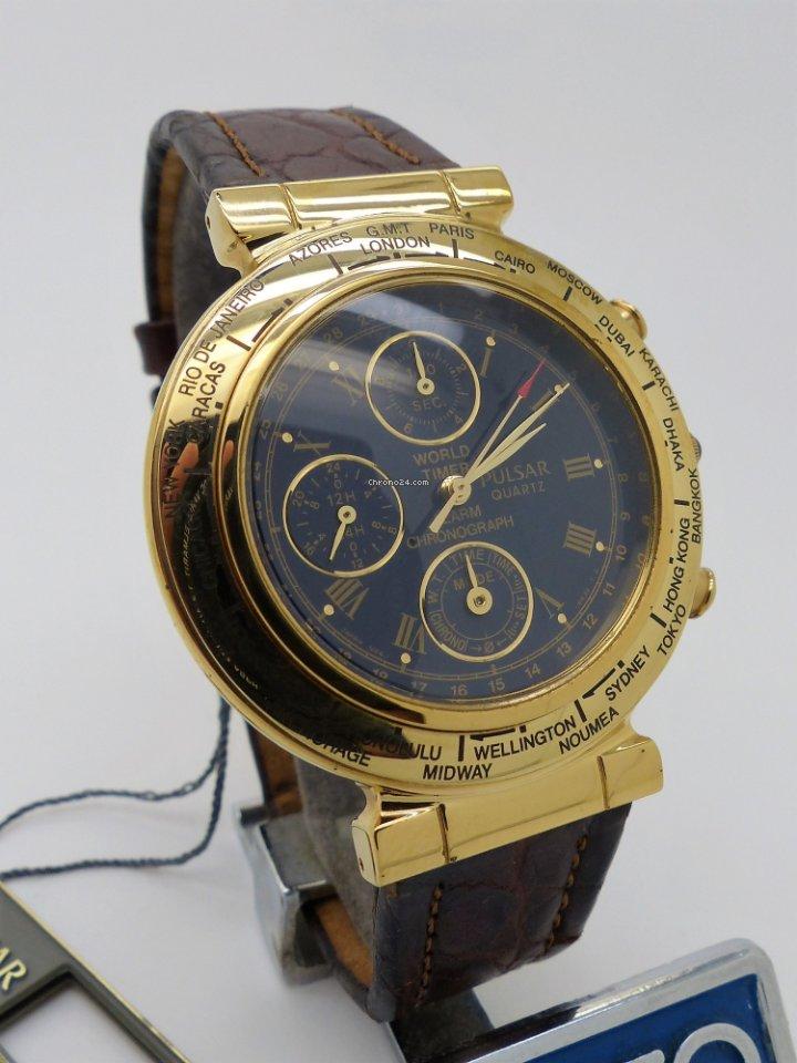 Chronograph World Timer Pulsar Alarm Nos 6a30 N94j Ybvf76gy
