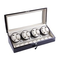 AXIS Luxury Ebony Automatic 8 Watch Winder with 12 storage ny