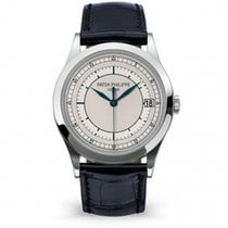 Patek Philippe Calatrava White gold 38mm Silver No numerals United States of America, New York, NEW YORK
