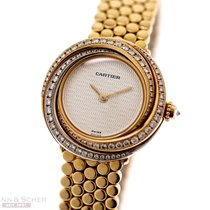 Cartier Trinity Yellow gold 27mm Silver No numerals