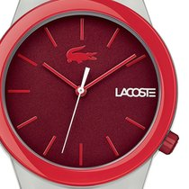Lacoste Plastic Quartz Red 42mm new