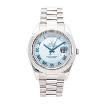 Rolex Day-Date II Platinum 41mm Blue Roman numerals United States of America, Pennsylvania, Bala Cynwyd