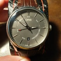 Oris Artelier Pointer Day Date Steel 40mm Grey No numerals