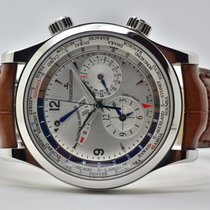 Jaeger-LeCoultre Master World Geographic Acero 41,5mm Plata Sin cifras