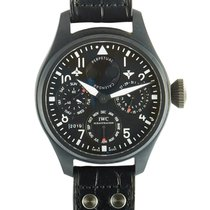 IWC Big Pilot Top Gun 48mm Negro Árabes