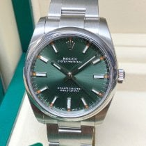 Rolex Oyster Perpetual 34 Steel 34mm Green No numerals United Kingdom, Wilmslow