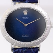 Rolex Cellini 18K Weißgold Vintage Dresswatch blue dial Spider...
