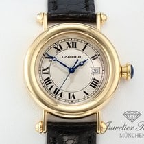 Cartier Diabolo Gelbgold 750 Leder Medium 32 mm Herren