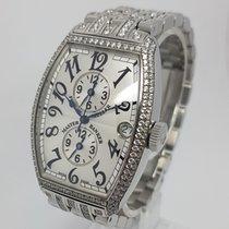 Franck Muller Master Banker Steel, Custom added Diamonds Watch