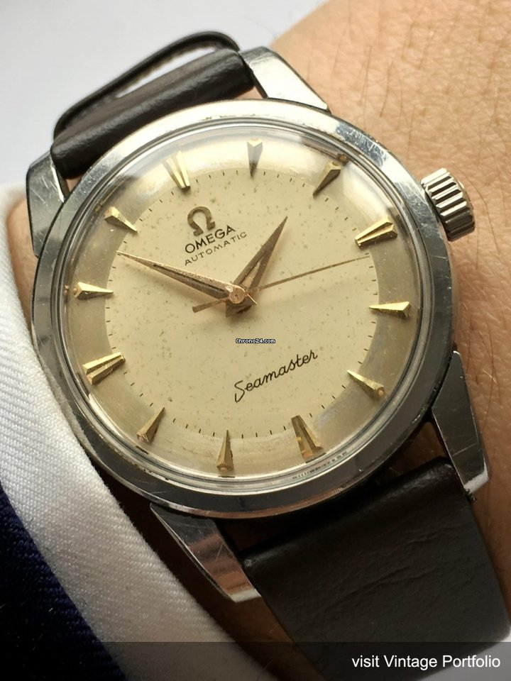 Omega genuine omega seamaster automatic vintage big seahorse for 1 478 for sale from a trusted for Omega watch vintage