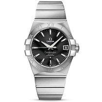 Omega Constellation Men Steel 38mm Black United States of America, Iowa