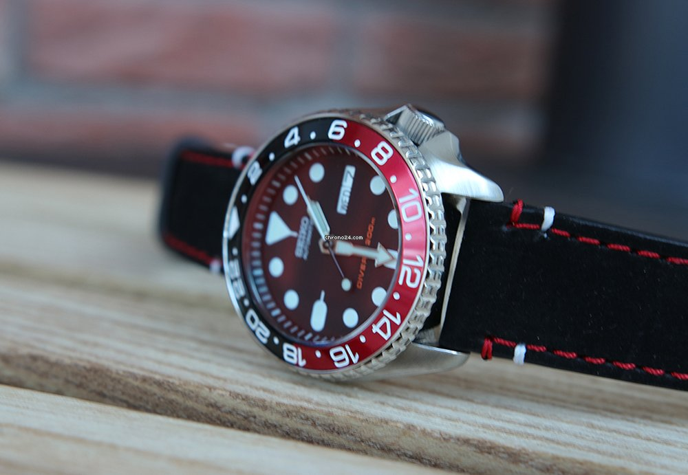 """Seiko SKX007 """"Red October""""-Mod – Diver – Rote Entspiegelung"""