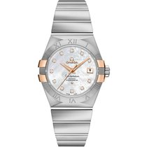 Omega Constellation Ladies Gold/Steel 31mm Mother of pearl No numerals United States of America, New York, New York
