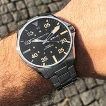 Hamilton Khaki Pilot Day Date H64725131 HAMILTON Khaki Pilot Acciaio Nero 46mm nouveau