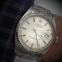 Rolex Datejust gebraucht 36mm Silber Datum Stahl