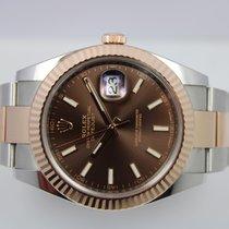Rolex Datejust II Staal 41mm Bruin Geen cijfers Nederland, Rijnsburg