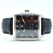 TAG Heuer Monaco Calibre 6 Steel 37mm Black No numerals