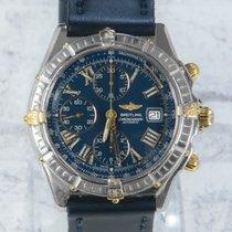 Breitling Crosswind Racing Gold/Stahl 43mm Blau Römisch