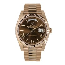 Rolex Day-Date 40 Or rose 40mm Brun Romain