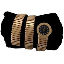 Bulgari Yellow Gold Rare Serpenti Tubogas Bracelet Watch A5007...