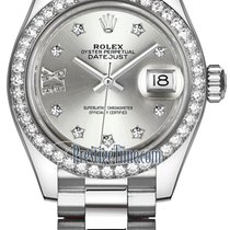 Rolex Platinum Automatic Silver 28mm new Lady-Datejust