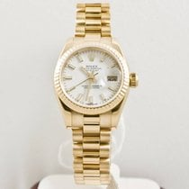 Rolex Newstyle Lady's President 18k Yellow Gold Watch 179178