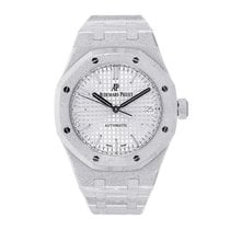 Audemars Piguet Ladies Royal Oak 37mm Frosted White Gold
