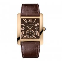 Cartier W5330002 Tank MC Large Model Brown Dial Rose Gold