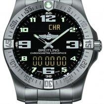 Breitling Хронограф 43mm Кварцевые новые Aerospace EVO Чёрный