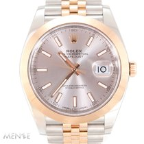 Rolex Datejust pre-owned 41mm Pink Date Gold/Steel