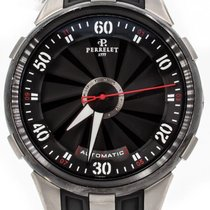 Perrelet Steel Automatic Black 45mm pre-owned Turbine XL