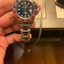 롤렉스 GMT-마스터 II 화이트골드 40mm 파란색 숫자없음