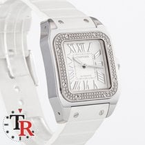 Cartier White gold Automatic Santos 100 pre-owned