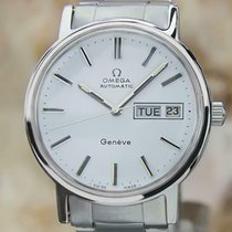 Omega Steel Automatic White 35mm pre-owned Genève