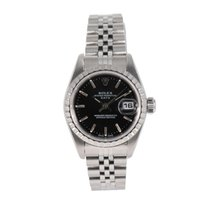 Rolex Oyster Perpetual Lady Date Acero 26mm Negro