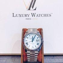 Rolex Day-Date 40 Or blanc 40mm Bleu Romain France, Paris