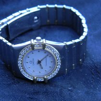 Omega Constellation Ladies pre-owned 23mm White Gold/Steel
