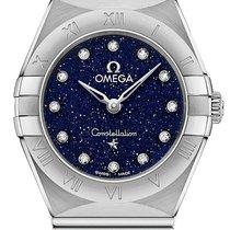 Omega Constellation Quartz Acero 25mm Azul