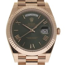 Rolex Day-Date 40 Oro rosado 40mm Verde