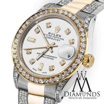 Rolex Lady-Datejust Or/Acier 31mm Blanc Sans chiffres