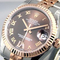 Rolex 178271 Mid Size 31 Mm Steel Pink Gold Datejust Brown...